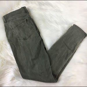 Express legging olive green skinny jeans